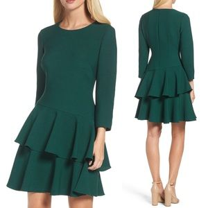 Eliza J. Tiered Ruffle Knit Dress